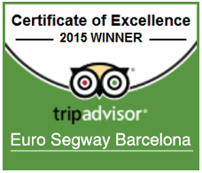 Euro Segway Barcelona - Certificate of Excellence 2015